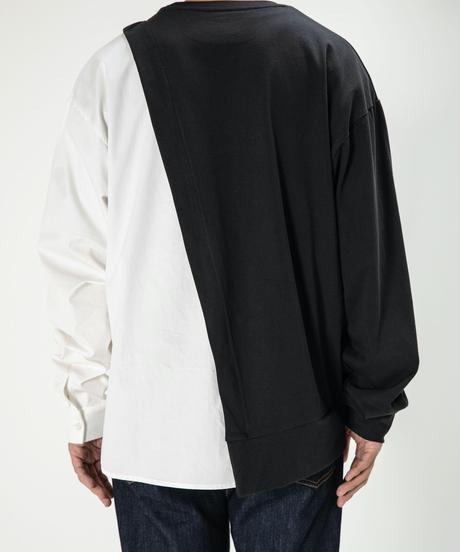 【UNISEX】Combi  Long  SleeveTee / WHITE