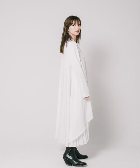 Swan Pleats OP / WHITE