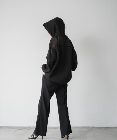 【即納&UNISEX】Black Sheer hoodie