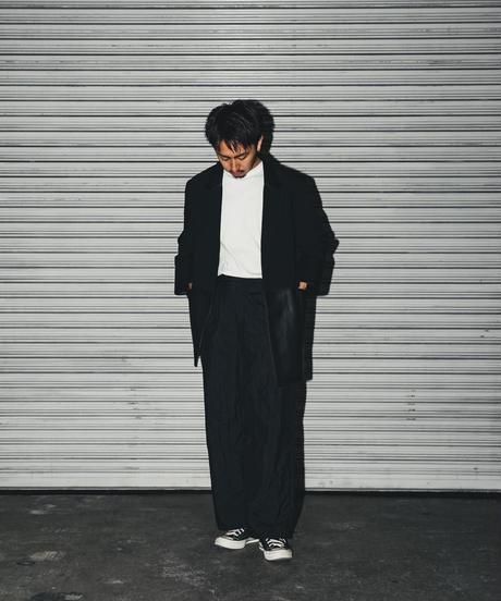 【UNISEX】Faux leather tailored jacket