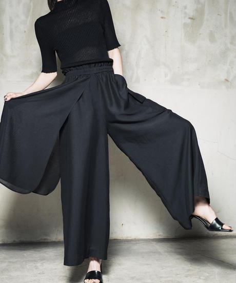 Sheer Skirt Pants