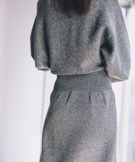 Slit Loose Knit Dress / GRAY