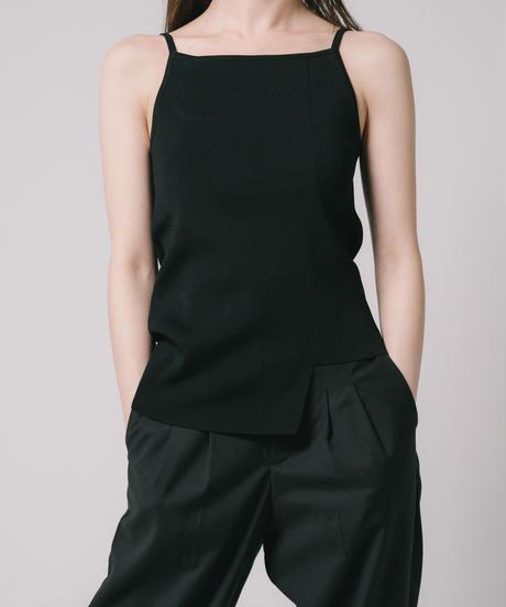 Asymmetry Knit Camisole / BLACK