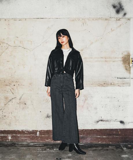Faux Leather Short Jacket