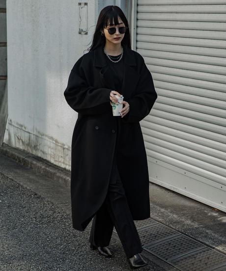 【UNISEX】 Double collar Chester coat