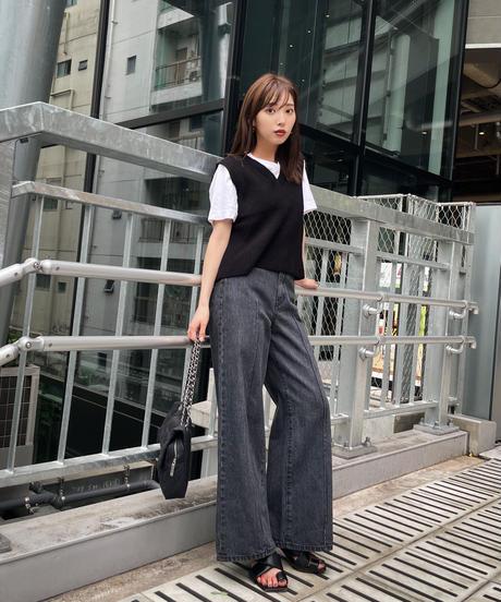 High-waist Classic Denim / GRAY