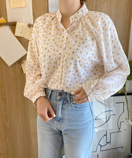 《予約販売》flower pattern blouse