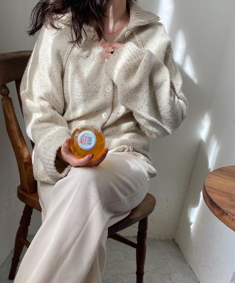 《即納》crush  front button knit