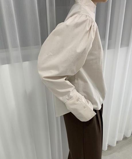 《予約販売》cotton high neck puff blouse