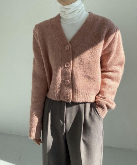 《予約販売》alpaca puff vneck cardigan (4color)