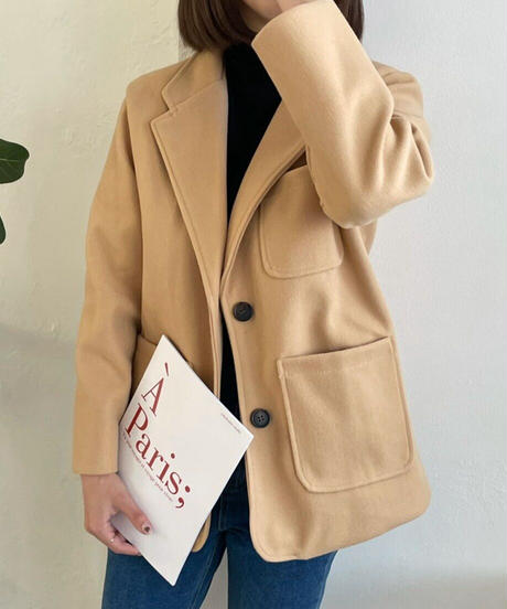 《予約販売》three poket basic jacket