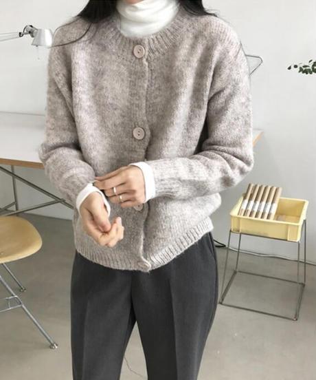 《予約販売》alpaca knit cardigan (3color)