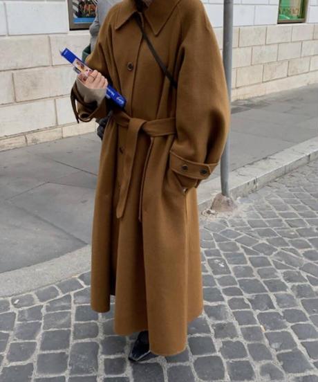 《予約販売》loose fit bal collar long coat (3color)