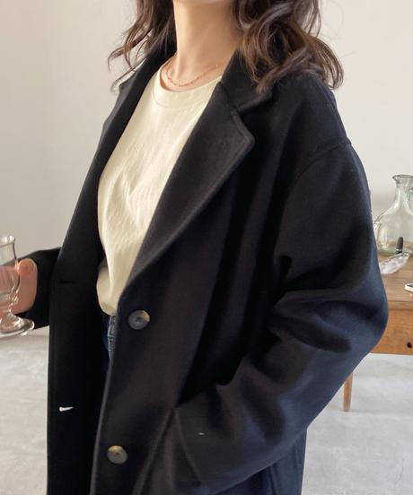 《即納》single belt long coat