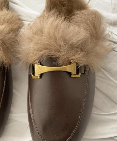 《予約販売》buckle fur bloafer (3color)