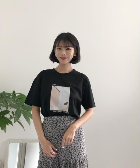 《予約販売》square print T-shirt