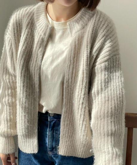 《予約販売》round zipper knit