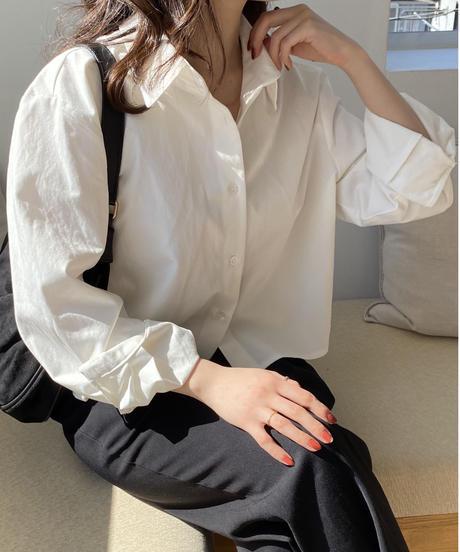 《予約販売》cropped basic shirt (2color)