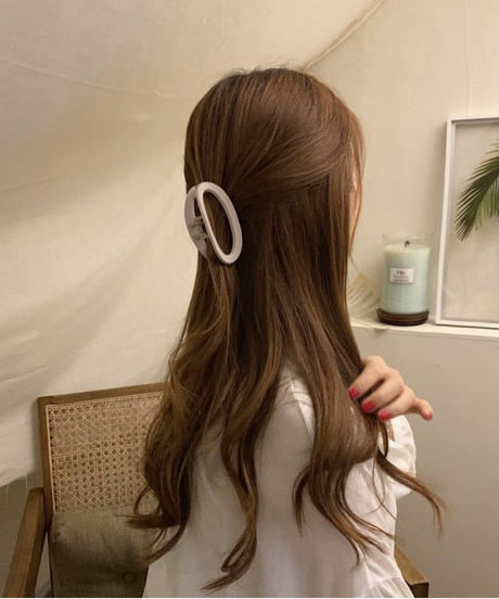 《予約販売》matte round hair clip