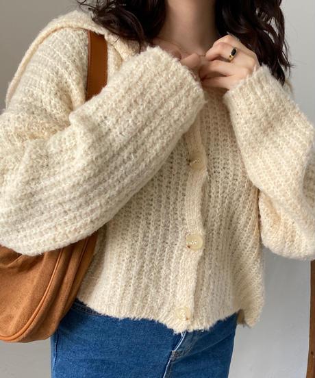 《予約販売》big sailor knit cardigan (2color)