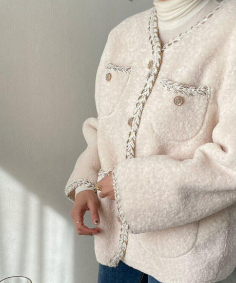 《即納》no collar coco jacket