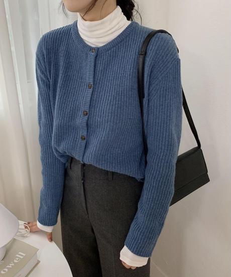 《予約販売》wool blend round neck cardigan