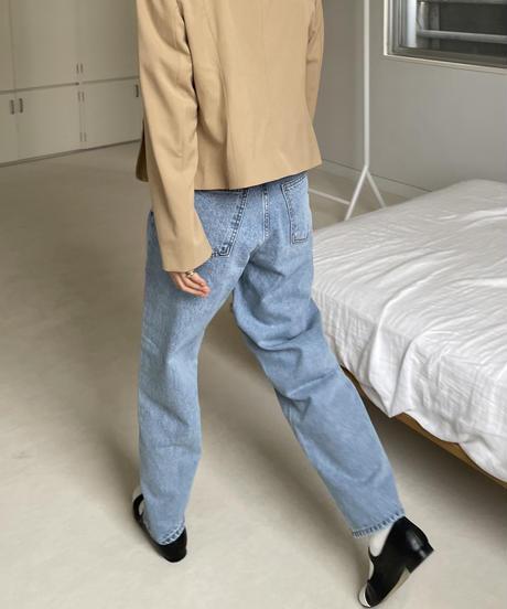 《予約販売》hi waist  wide denim pants