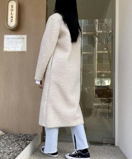 《予約販売》boa long coat