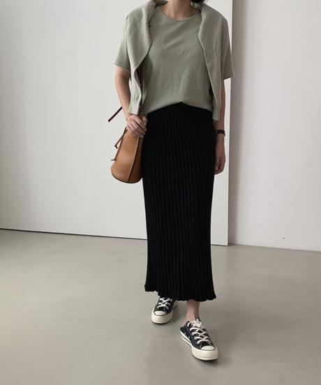 《予約販売》knit pleats skirt (4color)