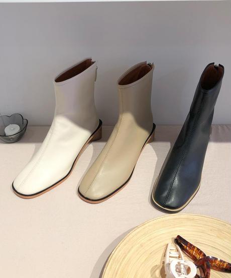 《予約販売》triangle heal leather boots (3color)