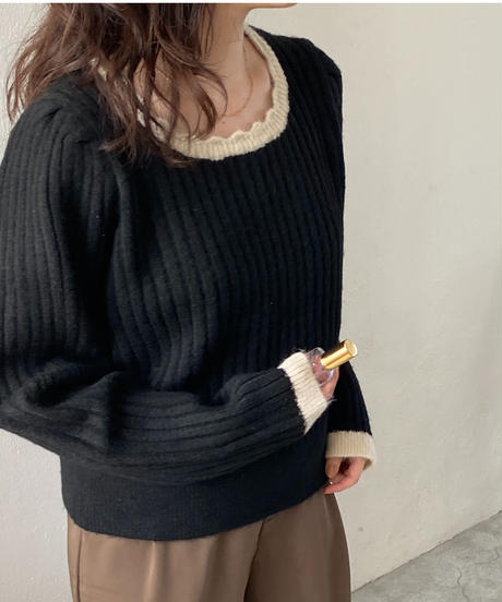 《予約販売》frill line bicolor knit (3color)