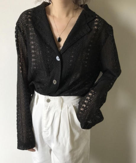 《予約販売》race collar blouse