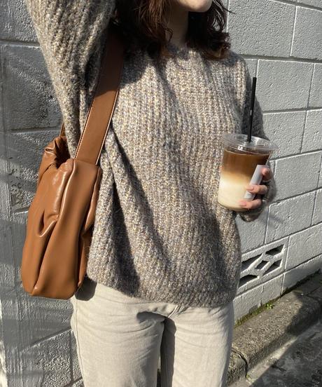 《予約販売》mix color balloon knit (2color)