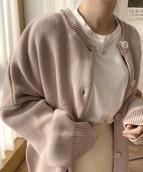 《予約販売》loose fit round cardigan (4color)