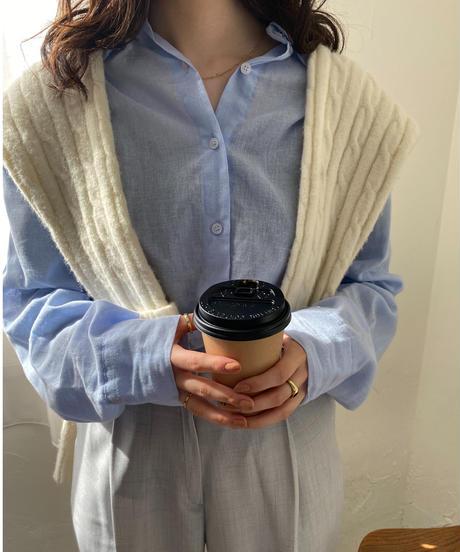 《予約販売》basic linen blend shirt (3color)