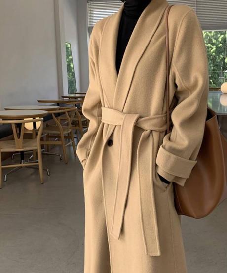 《予約販売》double button long coat (2color)