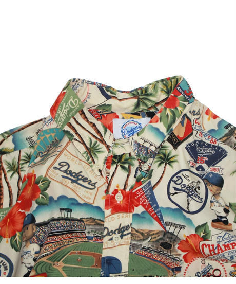 used:reyn spooner Los Angeles Dodgers Aloha BEIGE - XLsize