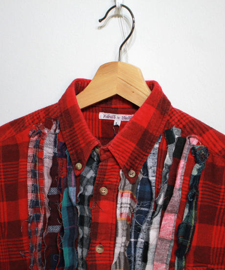 Rebuild by Needles:Ribbon Flannel Shirt - L size #61