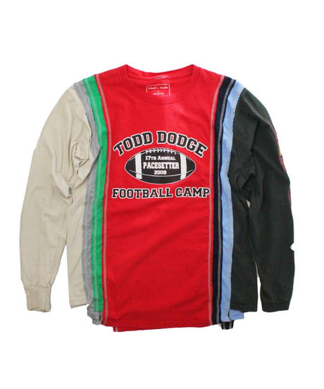Rebuild by Needles 7Cuts long sleeve Tee College RED - size M