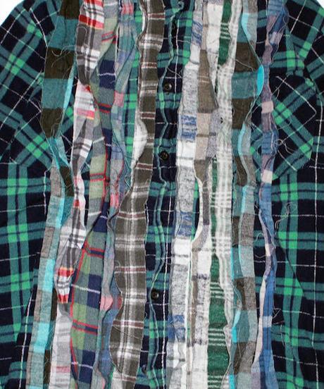 Rebuild by Needles:Ribbon Flannel Shirt - M size #45