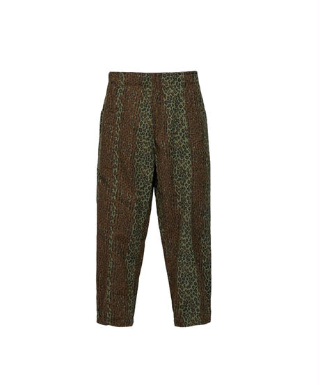 South2 West8:Army String Pant Printed Flannel Camouflage -  Leopard