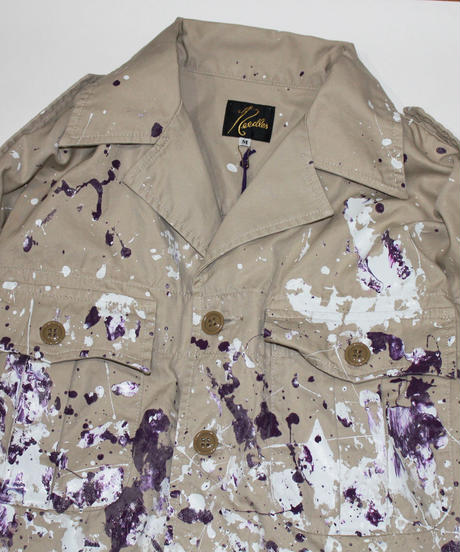 Needles:SAFARI JACKET - COTTON GABARDINE / PAINT