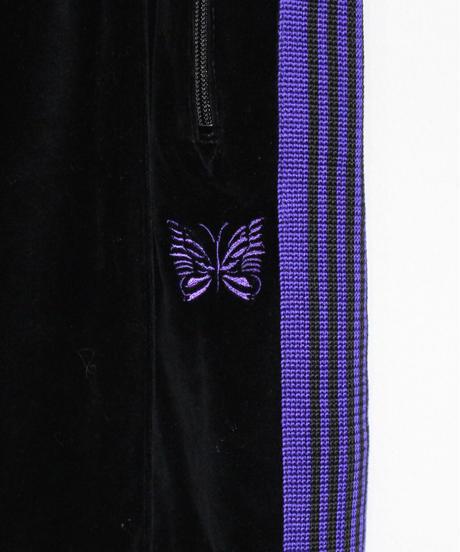 Needles:NARROW TRACK PANT  C/PE VELOUR - BLACK