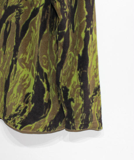 Needles Sportwear:CREW NECK Longsleeve  TEE - POLY FLEECE / TIGER CAMO STRIPE