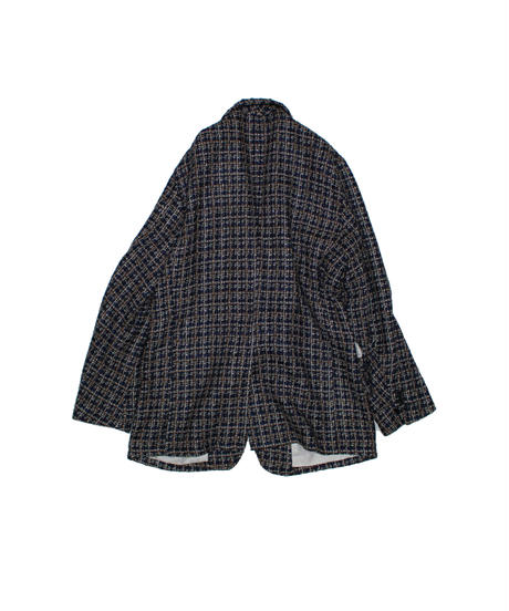 Needles : 2B JACKET  FANCY TWEED - BLUE GREY