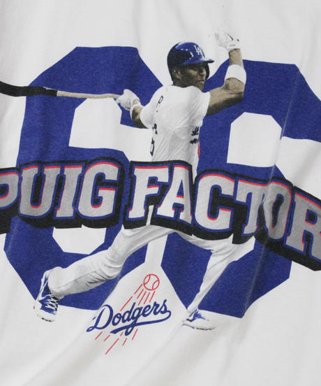 used : Los Angeles Dodgers #66 Yasiel Puig tee - XL size