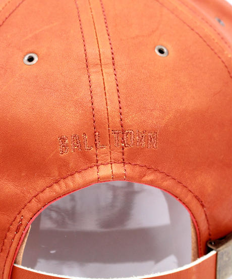 POTEN:BALL TOWN ALL LEATHER CAP BROWN
