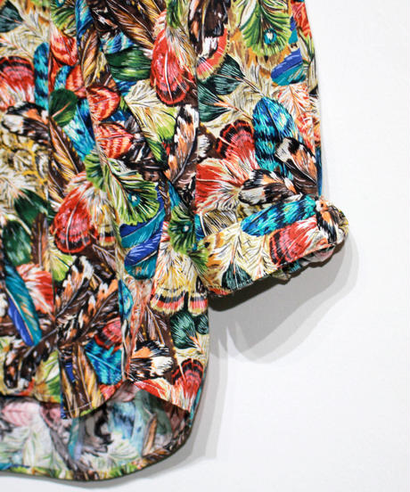 AiE :PAINTER SHIRT - Feather Print