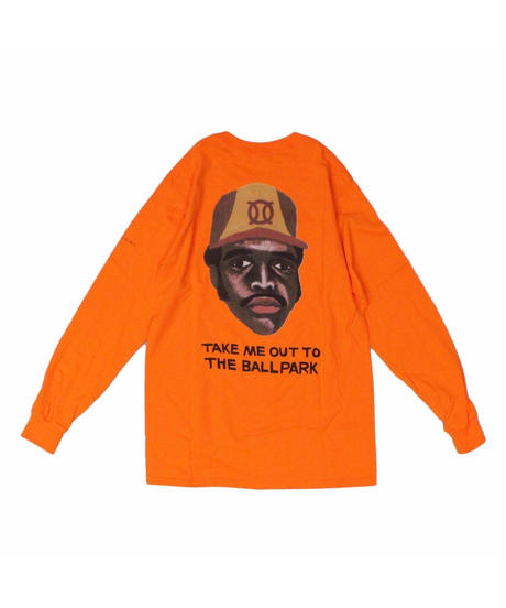 TAMANIWA:ball park  long sleeve tee - back print logo (TONY)