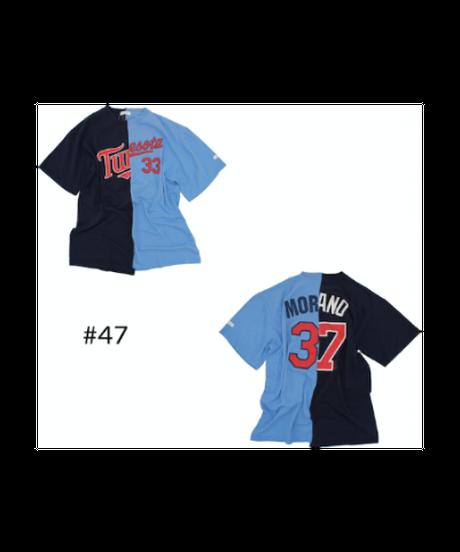 TAMANIWA:MLB half remake tee  #47-50